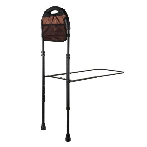 Carevas Altura Caminhão de cama ajustável para idosos Sênior com apoio e bolsa de chão Alumínio Cama Assist Bar Handle Safety Hand Rail 350LB Capacidade CE / FDA / FSC Aprovado