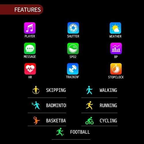 Fitness Tracker Smart Watch Waterproof Activity Tracker