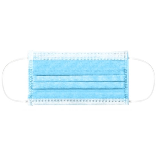 TOMTOP / 50pcs Disposable 3-Layer Mask Non-woven Fiber Fabric Breathable Face Mask Anti Dust Flexible Earloop Mouth Mask Sanitary Mask 50pack/Box Blue