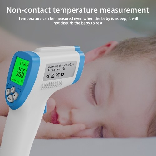 Andoer Non-contact Handheld IR Infrared Thermometer Forehead Temperature Measurement High Accuracy Fast Measure LCD Display Support ℃/℉ Conversion High Temperature Warning for Baby Kids Adults
