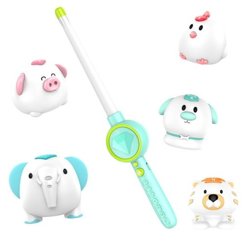 Magic Jungle 5 Animal and Magic Wand Light & Sound Sensor Control Educational toy For Kids Toddler