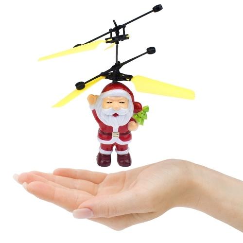 Motion Sensor Santa Claus Closed Eyes And Take Christmas Tree Flying Toys