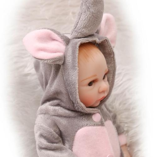 Image de 10inch 25 cm Reborn bébé poupée garçon plein silicone princesse poupée bébé bain jouet avec des vêtements réaliste mignon cadeaux jouet