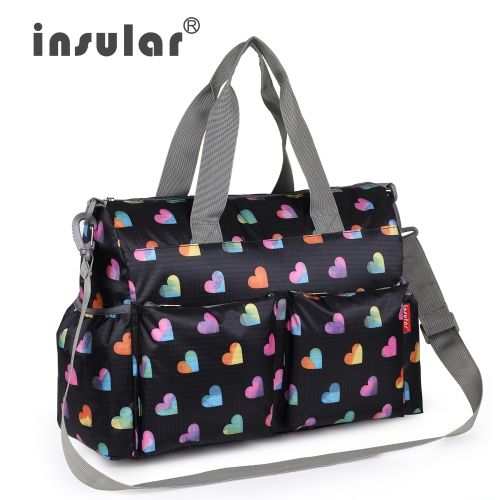 Insular Baby Diaper Bag Handbag Large Capacity Mummy Nappy Nursing Bag Travel for Baby Care Blossom