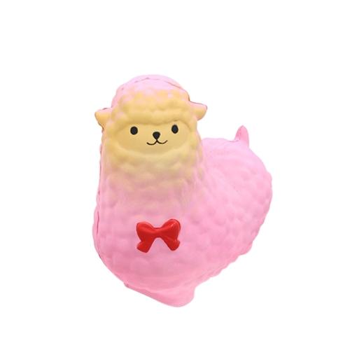 Squishy Slow Rising Color Sheep Toy Ароматические мягкие телефонные ремешки Подвески для выжимания декомпрессионных игрушек