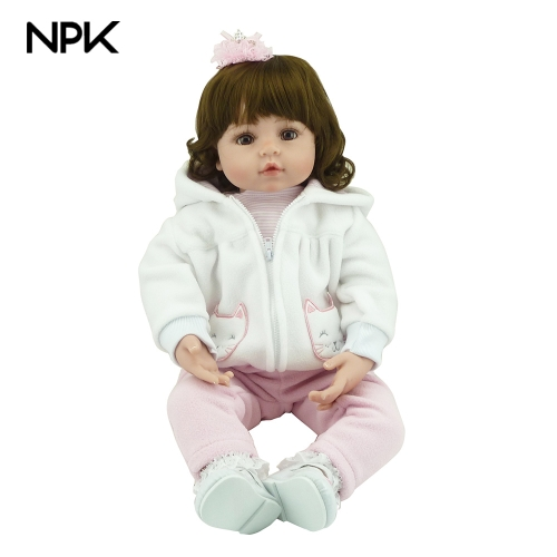 NPK 22in Reborn Baby Rebirth Doll Realistic quality silicone Kids Gift
