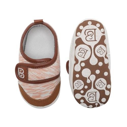 Младенческая малыш для малышей Повседневная обувь Хлопок Мягкая мягкая нескользящая Maigc Лента Sneaker Prewalker Светло-голубой Размер 4