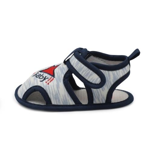 Scarpe da bambino per bebè Bambino Sandalo da ragazzo Nastro magico Suola morbida Antiscivolo Sneaker Prewalker per l'estate Blu Taglia 4