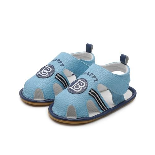 Scarpe da bambino per bebè Bambino estivo Sandalo da bambino antiscivolo in gomma Prewalker bianco Taglia 6