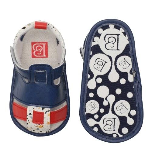 Младенческая малышей Baby Boy Boy Sandal PU Magic Tape Soft Sole Non-Slip Sneaker Prewalker для Summer Blue Размер США 4