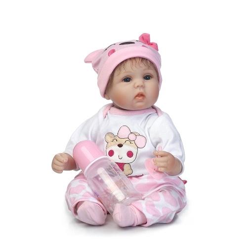 15in Reborn Baby Rebirth Doll Kids Подарочная ткань Материал Корпус
