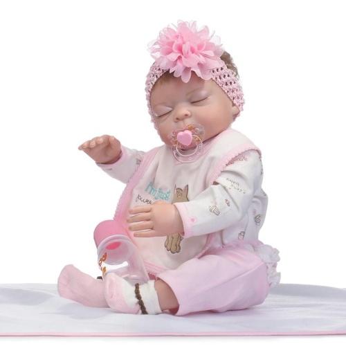 20in Reborn Baby Rebirth Doll Kids Gift Все силиконовые гелевые девушки