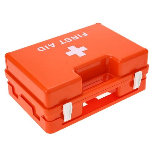 Carevas Abschließbare Erste Hilfe Medizin Aufbewahrungsbox Fall Wandhalterung Kunststoff Familie Notfall Kit Container mit Griff & Compartmets