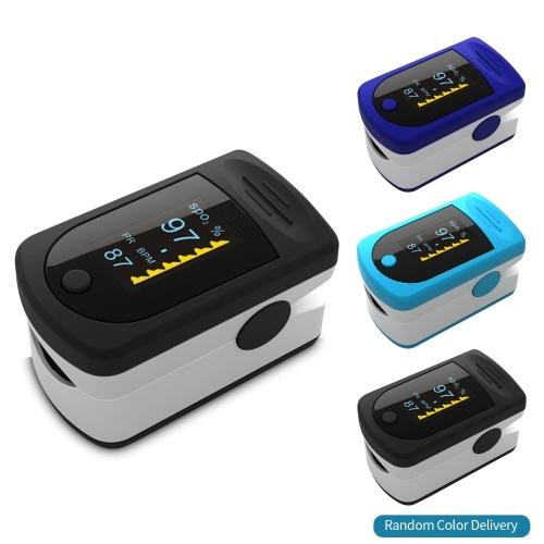 Digital Fingertip Pulse Oximeter OLED Display Blood Oxygen Sensor Saturation SpO2 Monitor Measurement Meter