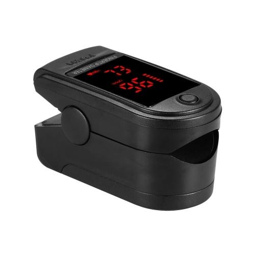 Digital Fingertip Pulse Oximeter Blood Oxygen Sensor Saturation Mini SpO2 Monitor Pulse Rate Measurement Meter for Home Sports Travel