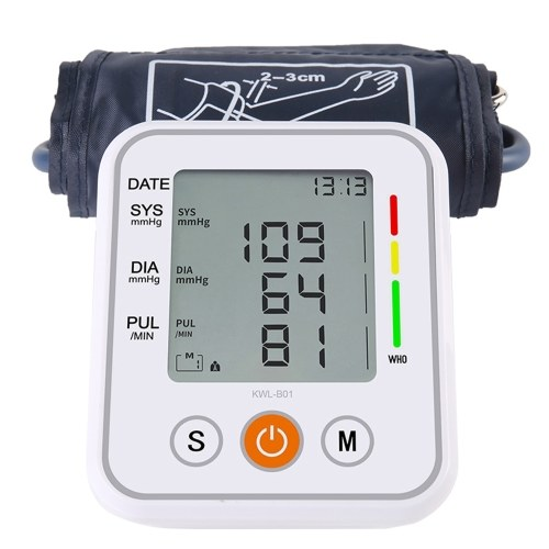 Blood Pressure Monitor Automatic Blood Pressure Measurement Arm Electronic Sphygmomanometer Pulse Rate Detection Voice Broadcast LCD Display Family Diagnostic-tool Parents Gift