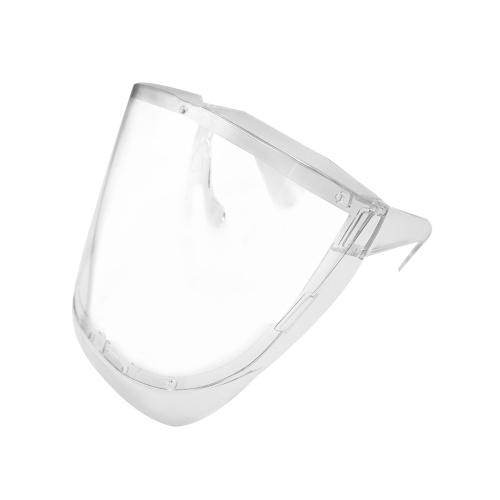 Safety Face Shield Vollgesichtsmaske Wiederverwendbarer transparenter, umlaufender Schutzschutz gegen Spritzflüssigkeitsspritzer