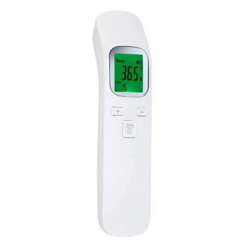 Бесконтактный инфракрасный термометр Портативный цифровой термометр для лба Портативный датчик температуры объекта тела ° C / ° F Переключаемый ЖК-дисплей с подсветкой