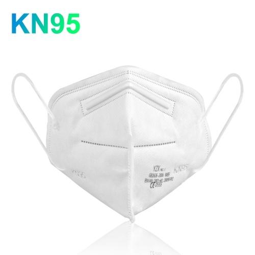 KN95 Maschera facciale con elastico elastico Filtro a 4 strati Respiratore morbido traspirante Maschera protettiva Filtraggio Particelle al 95% Maschera di sicurezza sanitaria contro la polvere Nebbia Foschia Inquinamento dell'aria
