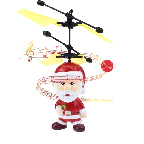 Motion Sensor Santa Claus Open Eyes And Hold A Cane Flying Toys