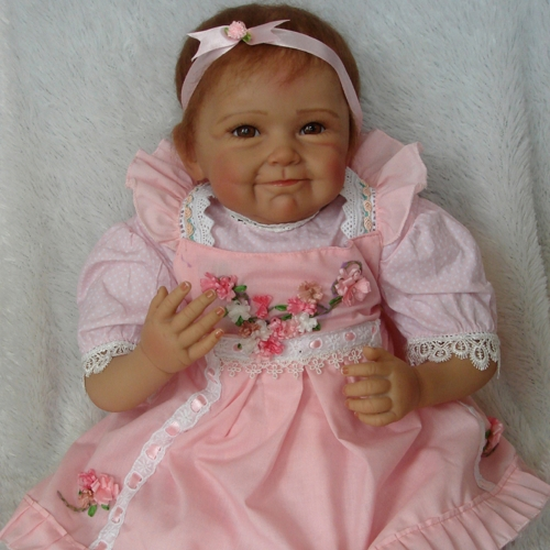 22inch 55cm Reborn Toddler Baby Doll Girl Silicone Body Boneca With Clothes Lifelike Cute Gifts Toy