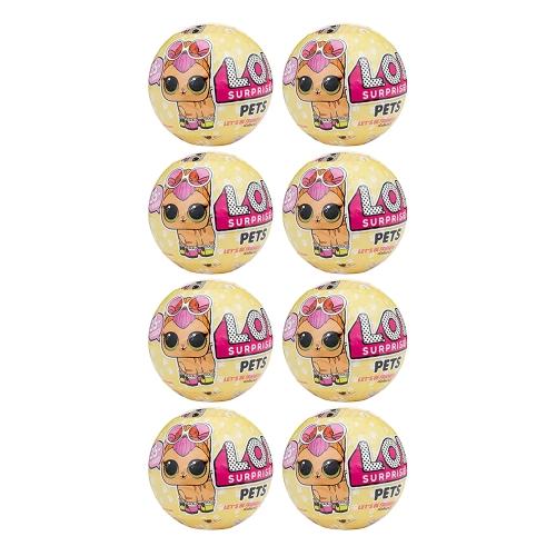 8Pcs LOL Egg Doll Toy Mystery Baby Домашние животные