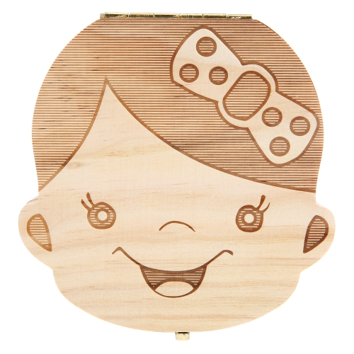 Baby Teeth Lanugo Save Box Wooden Cute Personality  Deciduous Souvenir Box Colored Box For Boy