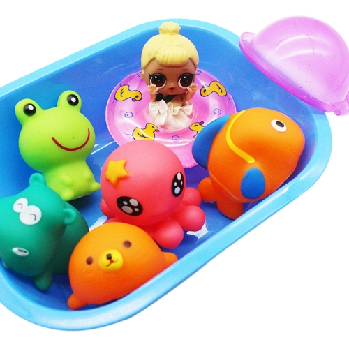 Baby Doll Shower Accessories Swimming Circle Toy Games Kit