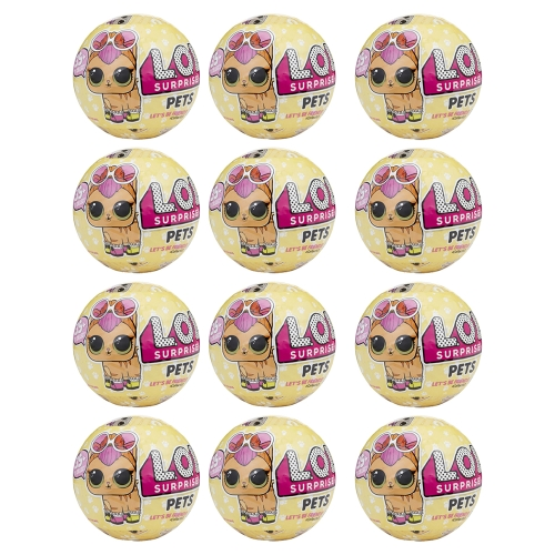 12Pcs L.O.L Surprise Doll Pets Series Egg Toy 9.5CM
