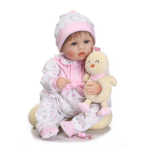 16in Reborn Toddler Cute Little Girl Doll Kids Gift Babygirl Amigo con biberón