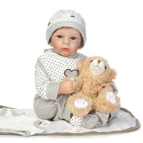 NPKCOLLECTION 68- 19in Reborn Baby с игрушечным медведем