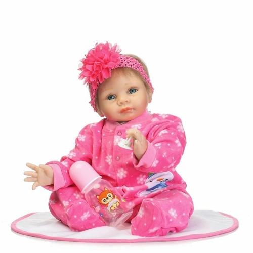 21in Reborn Doll Rebirth Baby Kids Подарочная ткань Материал Корпус