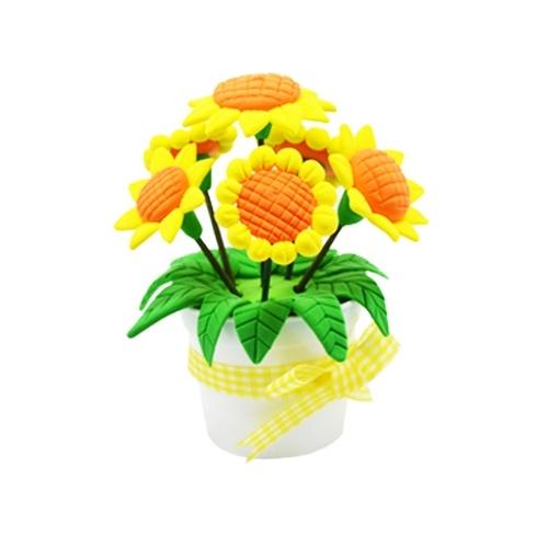DIY ручной работы Материал Сверхлегкий цвет глины горшок цветок DIY наборы для детей образовательной игрушки