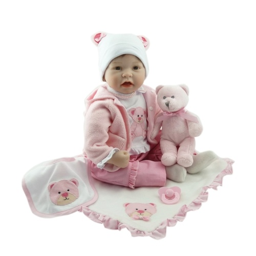 22in Reborn Baby Rebirth Doll Kids Gift Cloth Material Body