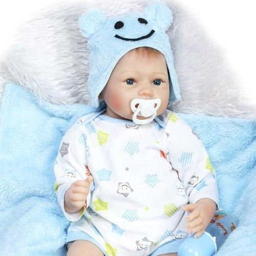 22in Reborn Baby Rebirth Doll Kids Подарочная ткань Материал Корпус
