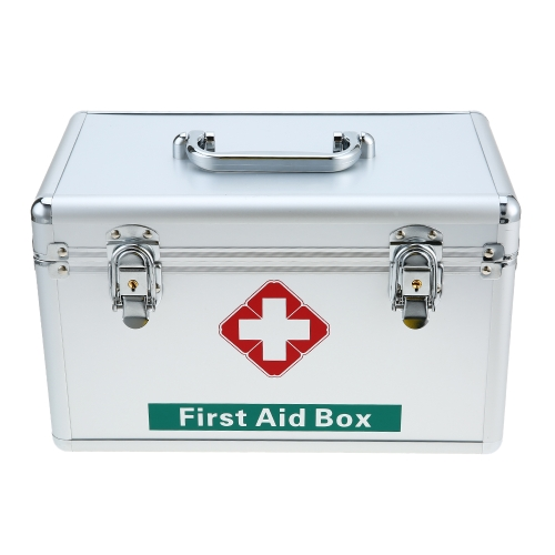 Caja de almacenamiento de primeros auxilios médica casera de aluminio