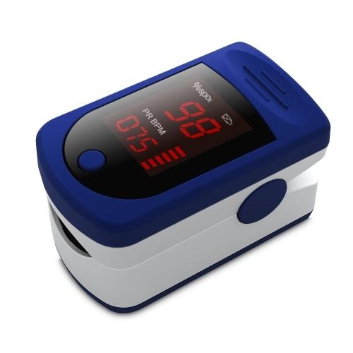 Digital Fingertip Pulse Oximeter LED Display Blood Oxygen Sensor Saturation SpO2 Monitor Measurement Meter for Nursing Home Sports Lover