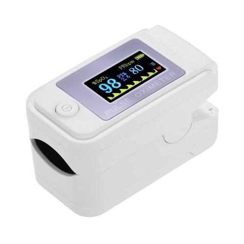 Mini oxymètre de pouls du bout des doigts moniteur de saturation en oxygène sanguin de fréquence cardiaque affichage OLED clair pour un usage domestique