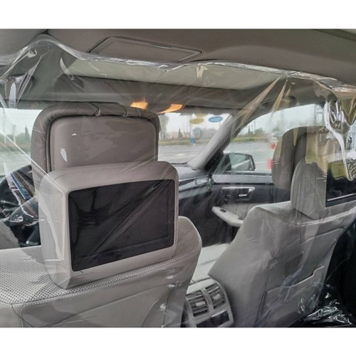 Car Isolation Film Anti-droplet , Fully Enclosed Transparent Isolation Curtain Protective Film Sealed Self-adhesive Partition Curtain For Cars, Taxies
