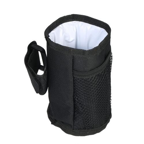 Sostenedor de la botella del cochecito de bebé Sostenedor aislado de la bebida del bolsillo de la taza del bolso que alimenta el refrigerador más caliente con la cinta mágica ajustable