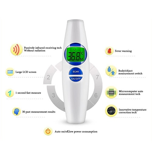 Digital IR Infrared Thermometer for Baby Child Adult LCD Non-contact Forehead Body Surface Object Temperature Measurement Data Hol