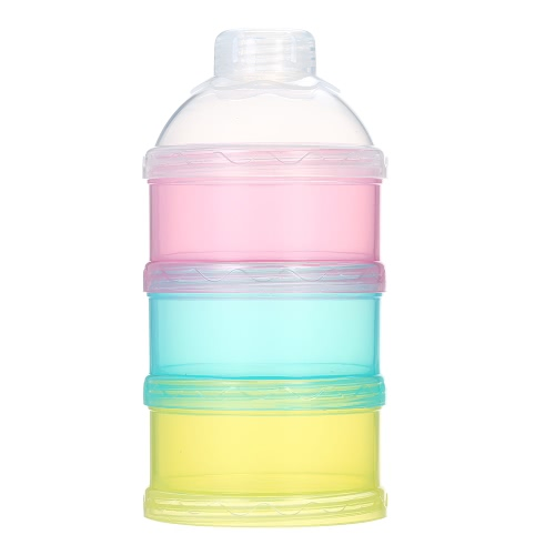 3 Layer Milk Powder Dispenser Box Case Stackable Formula Suger Box Pill Snack Containers BPA Free