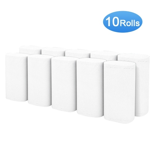 10 Rolls Toilet Paper 4 Layers Bathroom Roll Paper Towels Soft & Smooth Kitchen Roll Papers for Home Office Hotel Restaurant