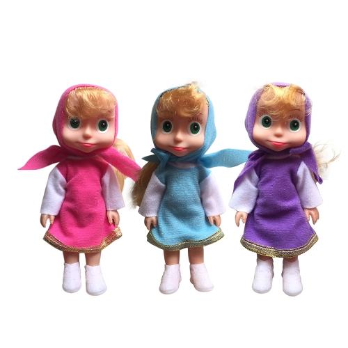 Cute Popular Masha Plush Dolls Russian Masha Stuffed Toy Kids Christmas Birthday Gift