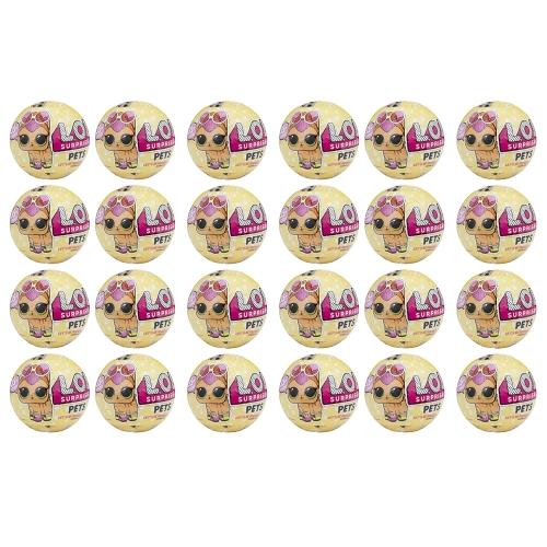 24Pcs L.O.L Surprise Doll Pets Series Egg Toy 9.5CM