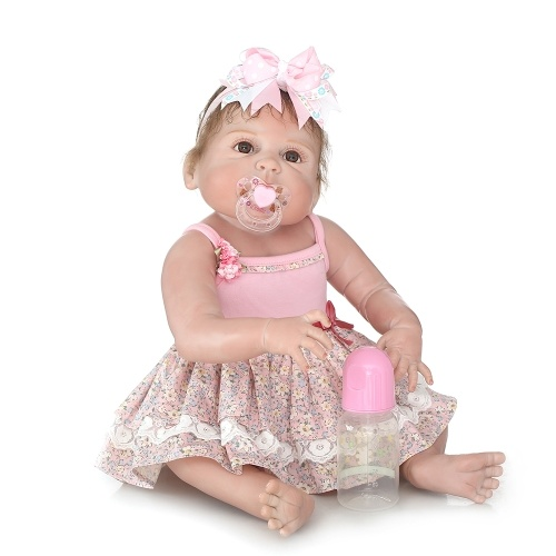 22in Reborn Baby Rebirth Doll Kids Gift Все силикагель