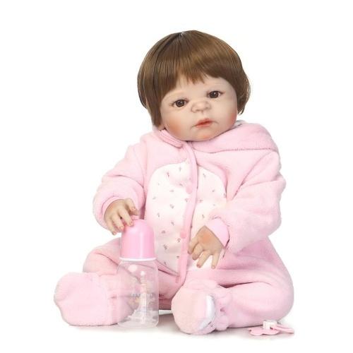22in Reborn Baby Rebirth Doll Kids Gift All-Silica Gel Girl