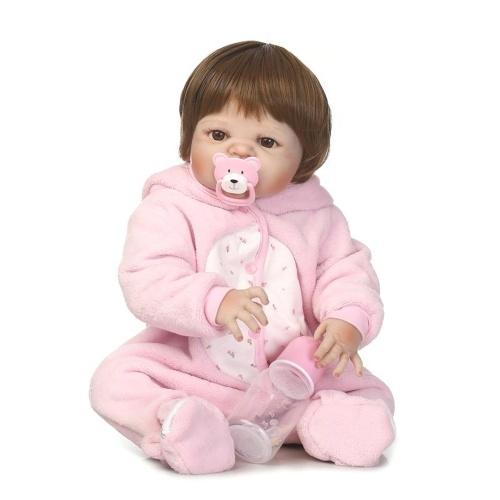 22in Reborn Baby Rebirth Doll Kids Подарок All-Silica Gel Girl