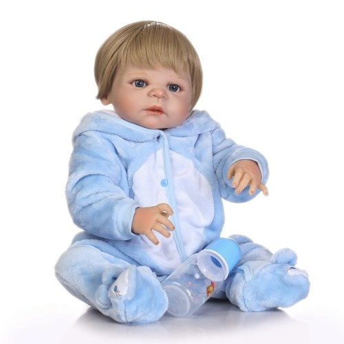 22in Reborn Baby Rebirth Doll Kids Подарок All-Silica Gel Boy