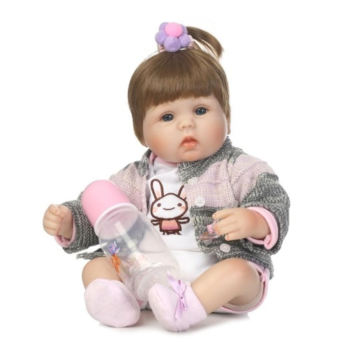 16in Reborn Baby Rebirth Doll Kids Gift Cloth Material Body